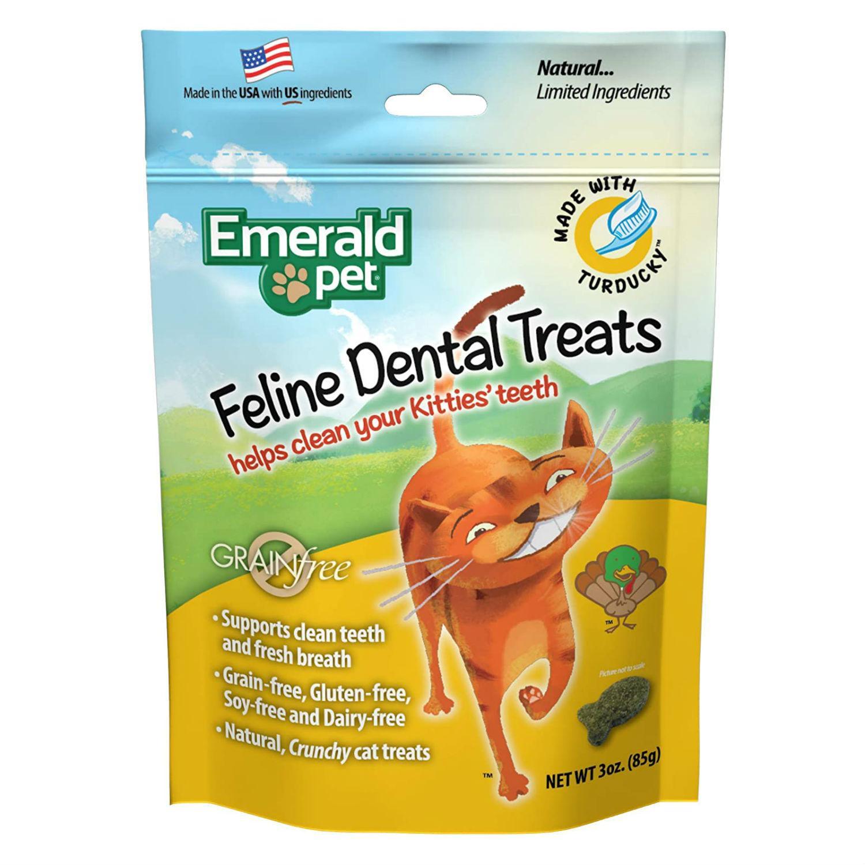 Emerald Pet Grain Free Feline Dental Treat - Turducky