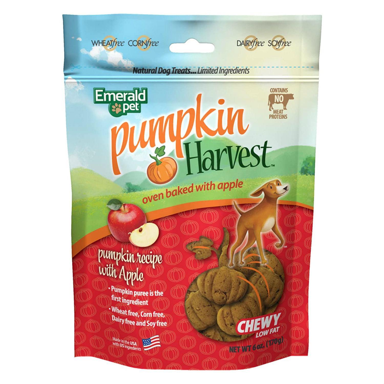 Emerald Pet Pumpkin Harvest Oven Baked Dog Treats - Pumpkin with Apple