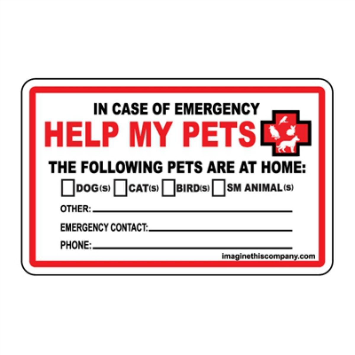 Emergency Wallet Cards - Help My Pets