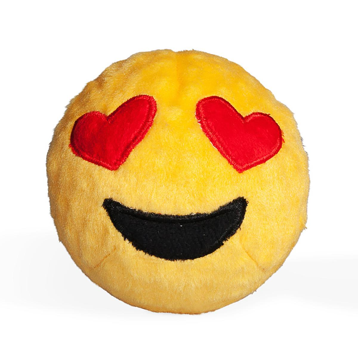 Emoji Faballs Dog Toy - Heart Eyes Love