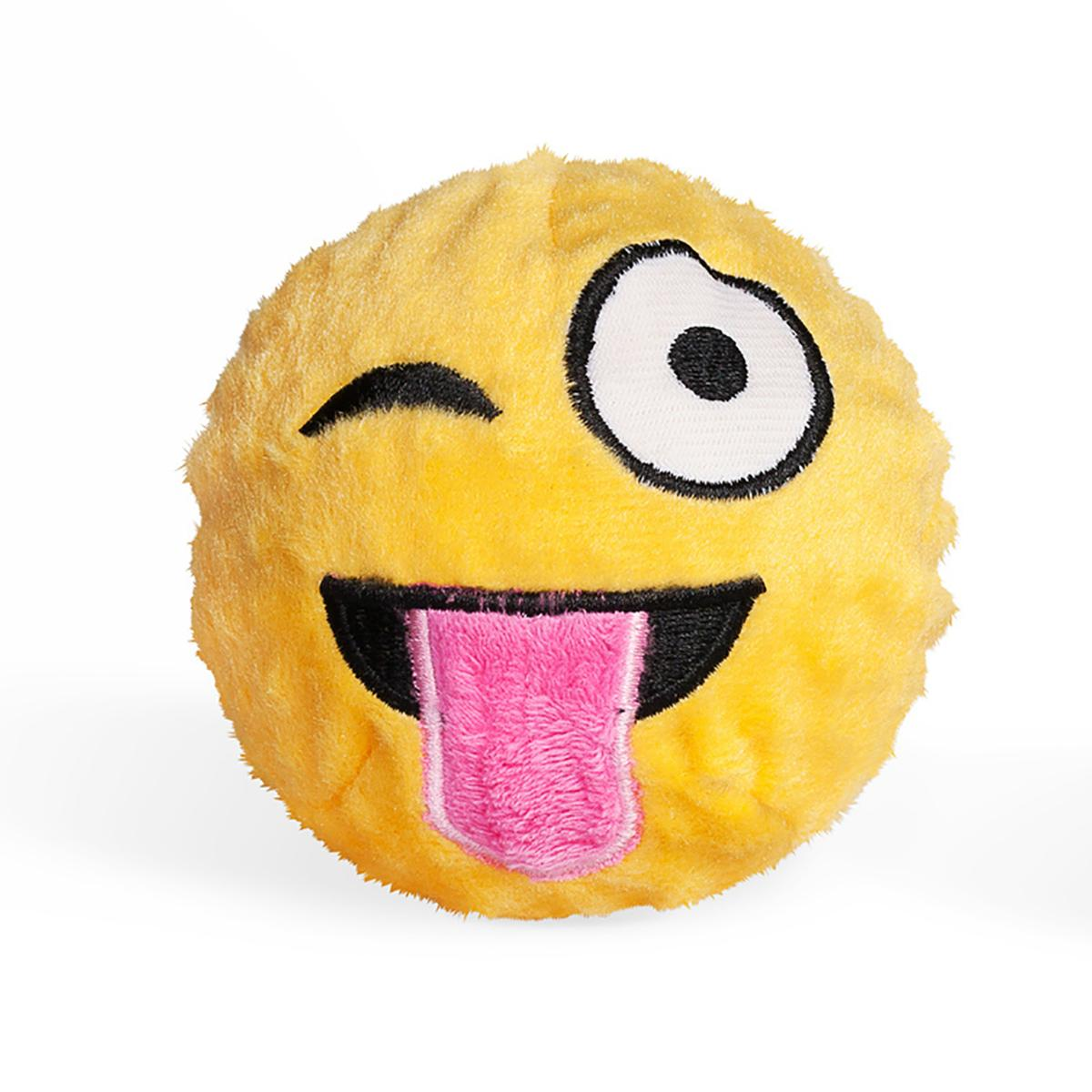 Emoji Faballs Dog Toy - Tongue Out Winking