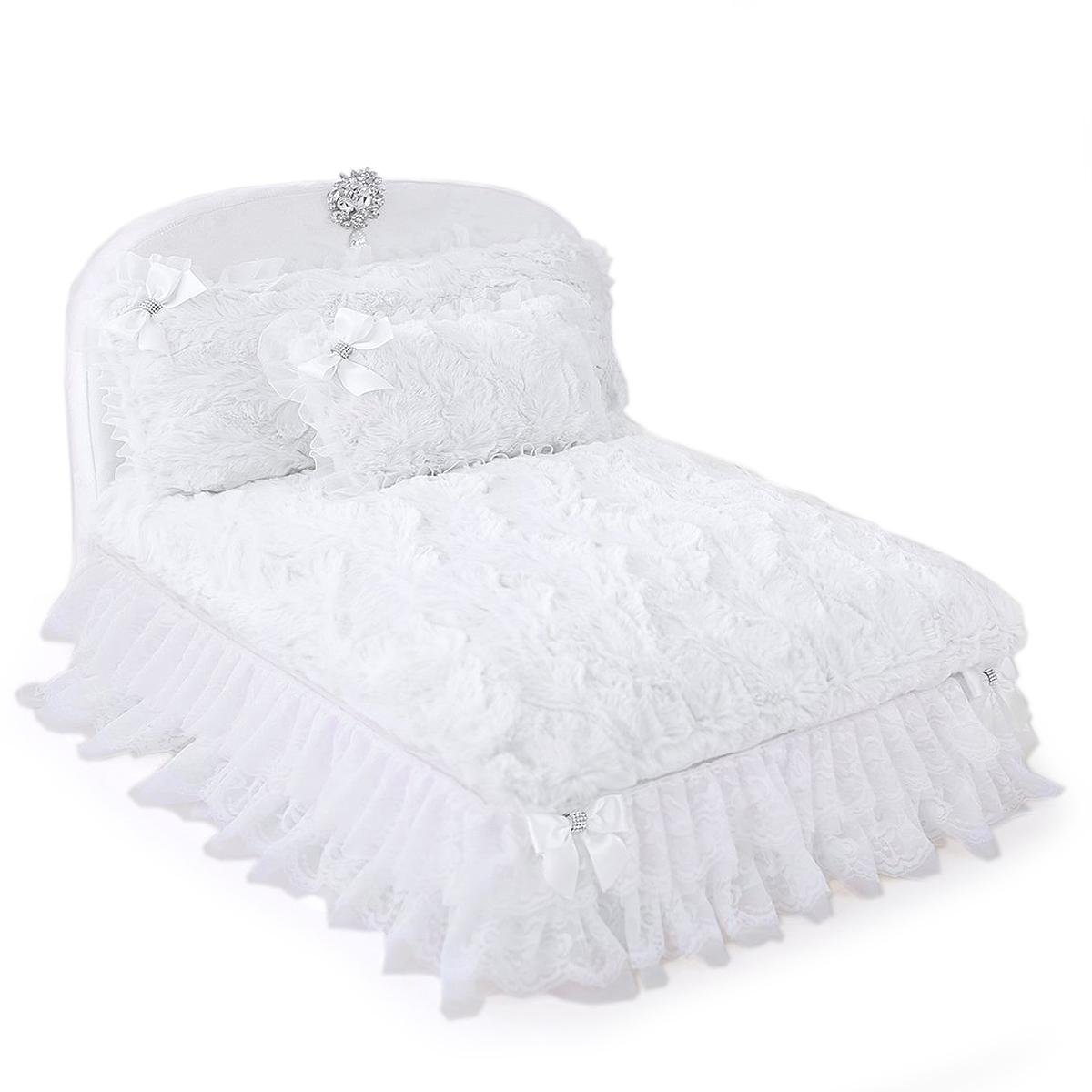 Enchanted Nights Luxury Dog Bed by Hello Doggie - Snow White