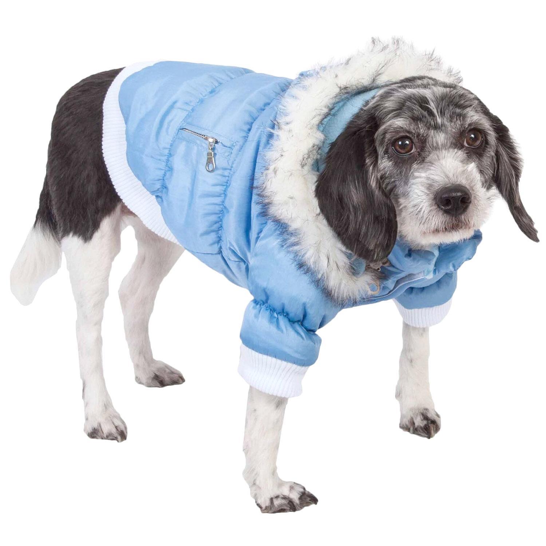 Pet Life Metallic Ski Parka Dog Coat - Blue