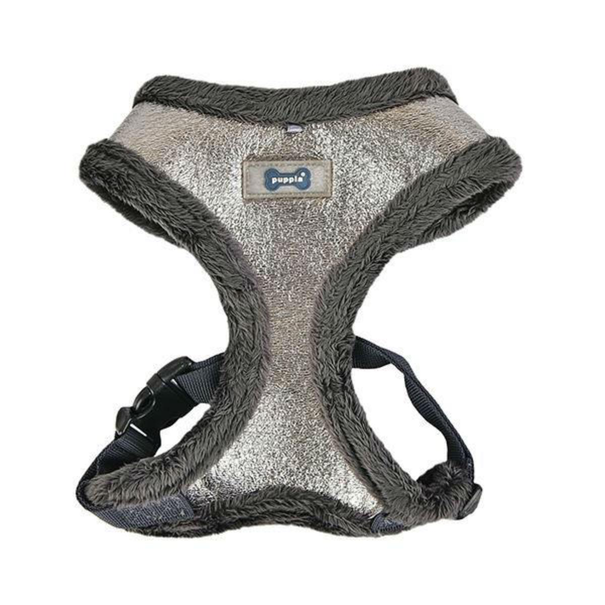 Evon Basic Style Dog Harness by Puppia - Silver