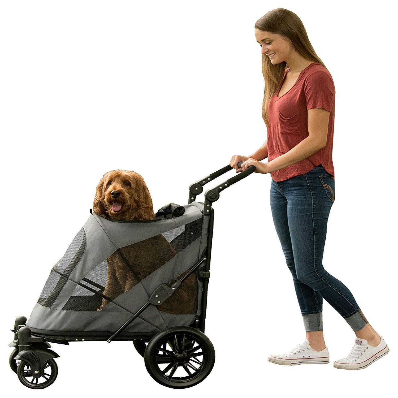 Excursion No-Zip Pet Stroller - Dark Platinum