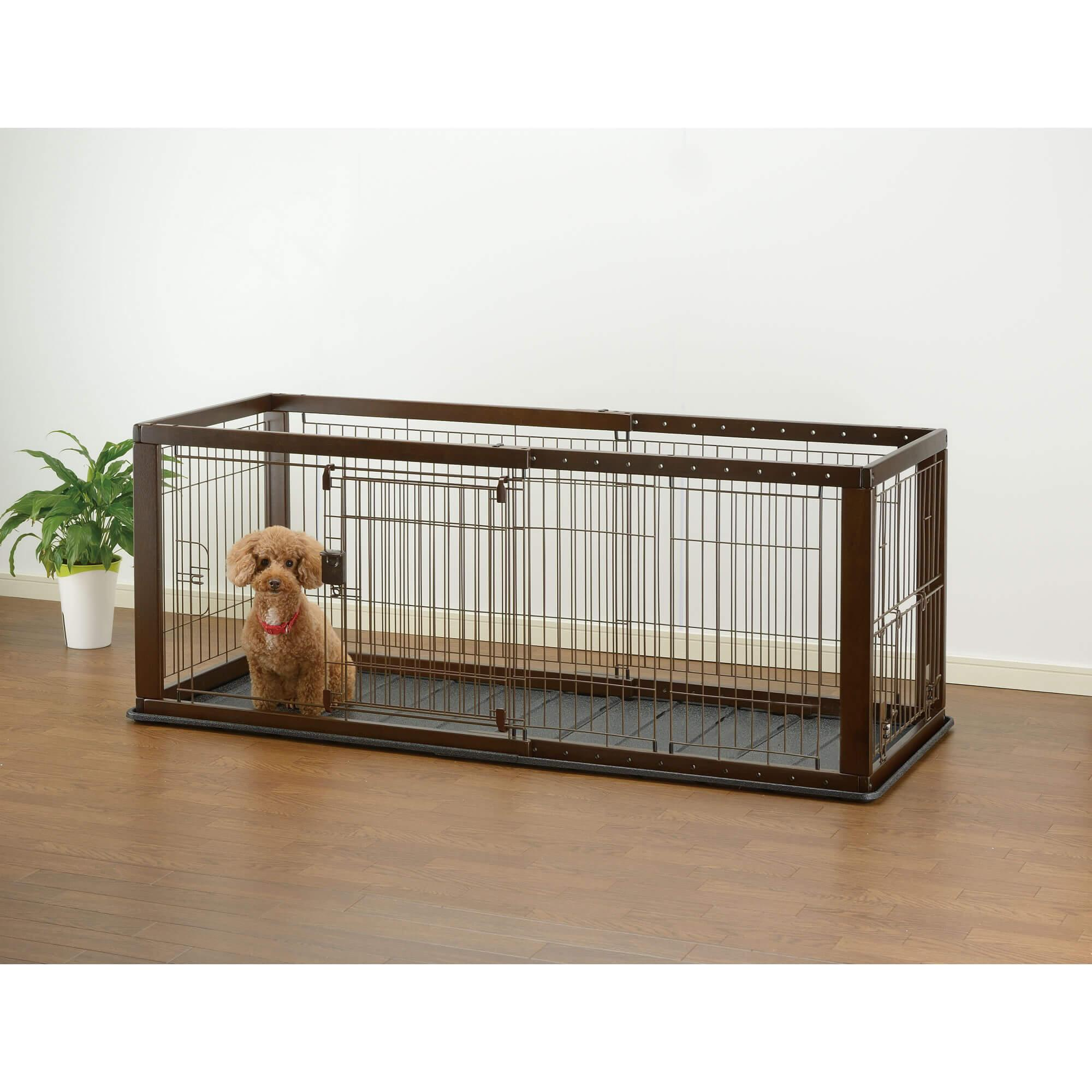 Expandable Dog Crate - Dark Brown