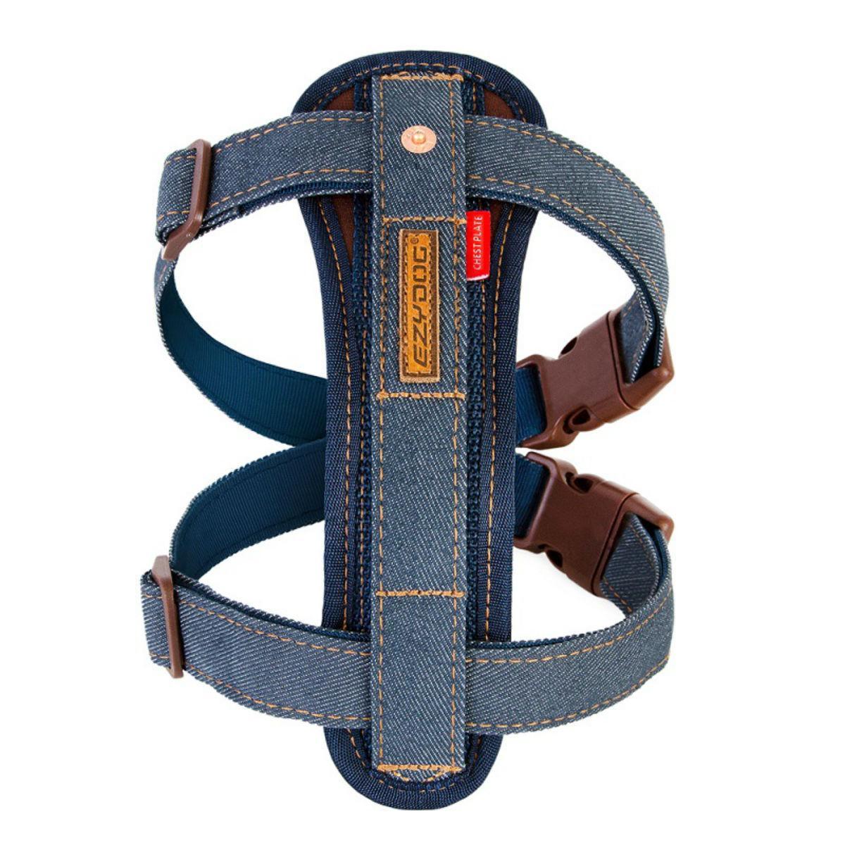 EzyDog Chest Plate Dog Harness - Denim