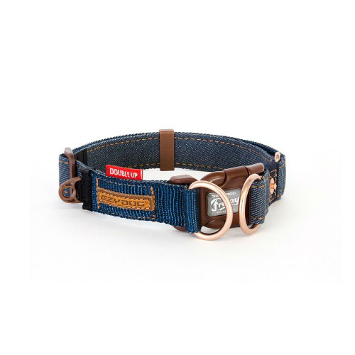 EzyDog Double Up Dog Collar - Denim