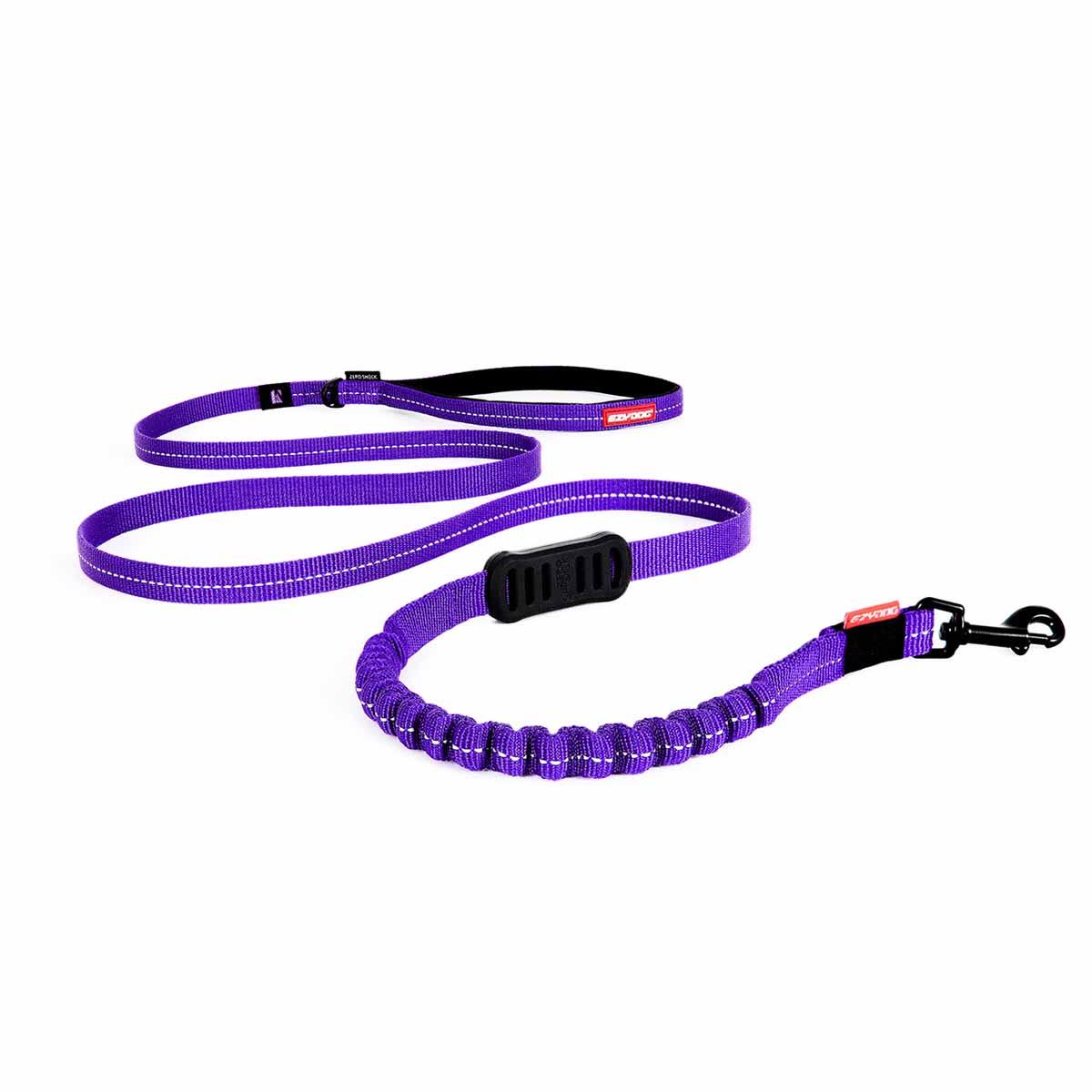 EzyDog Zero Shock Lite Dog Leash - Purple