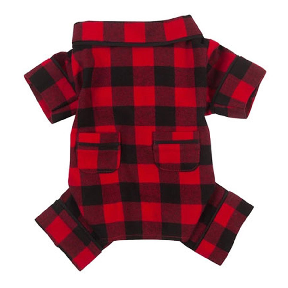 fabdog® Buffalo Plaid Flannel Dog Pajamas
