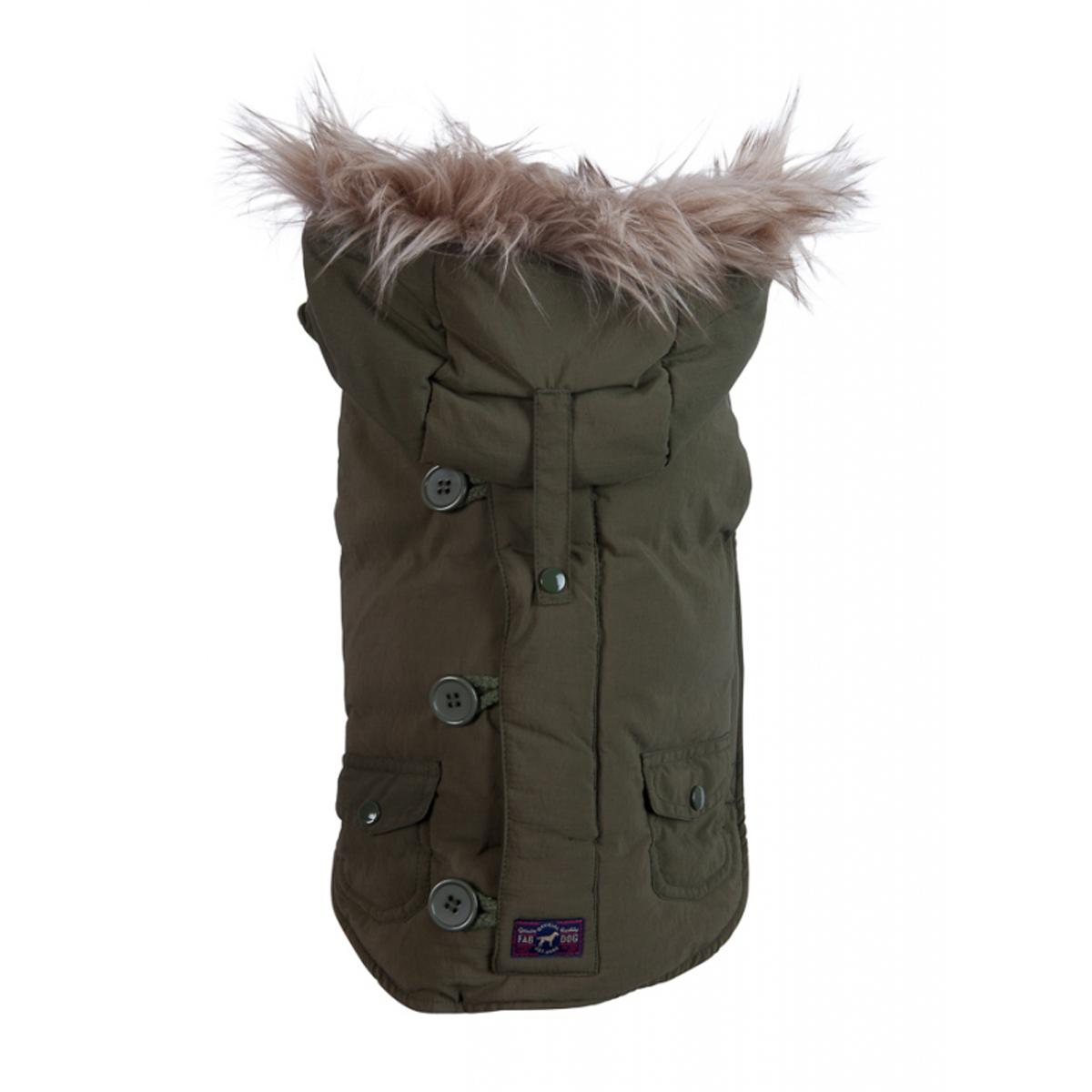 fabdog® Snorkel Dog Jacket - Olive
