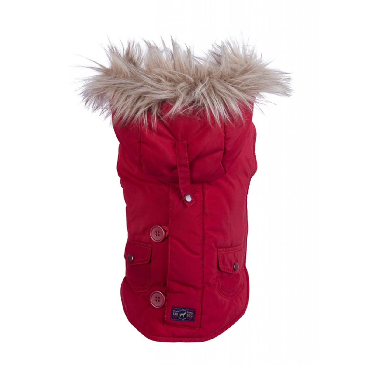 fabdog® Snorkel Dog Jacket - Red