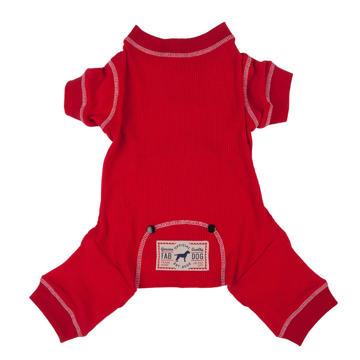 fabdog® Thermal Dog Pajamas - Red
