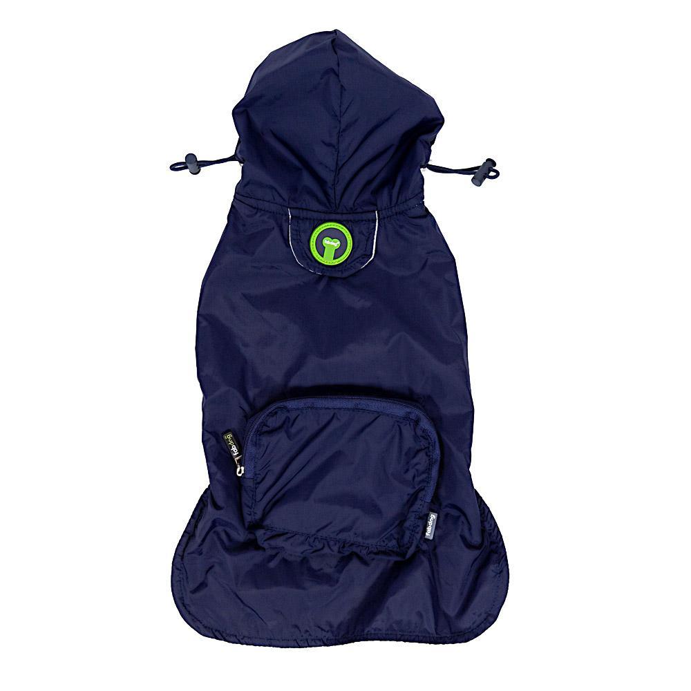 fabdog® Pocket Fold Up Dog Raincoat - Navy