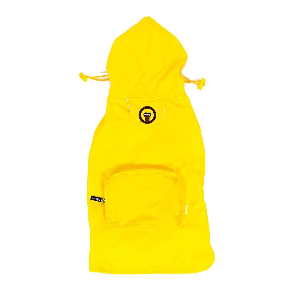 fabdog® Pocket Fold Up Dog Raincoat - Yellow