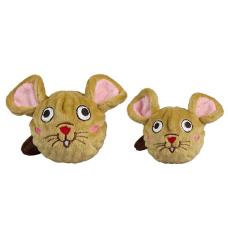 fabdog® Country Critter Faballs Dog Toy - Mouse