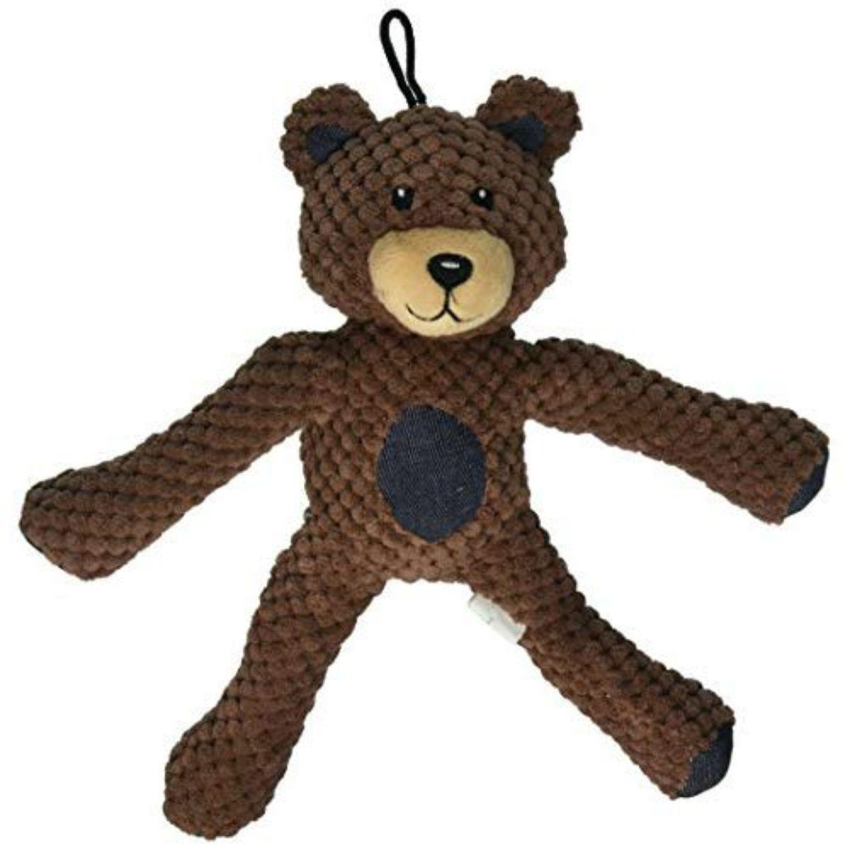 fabdog® Floppy Friends Dog Toy - Brown Teddy Bear