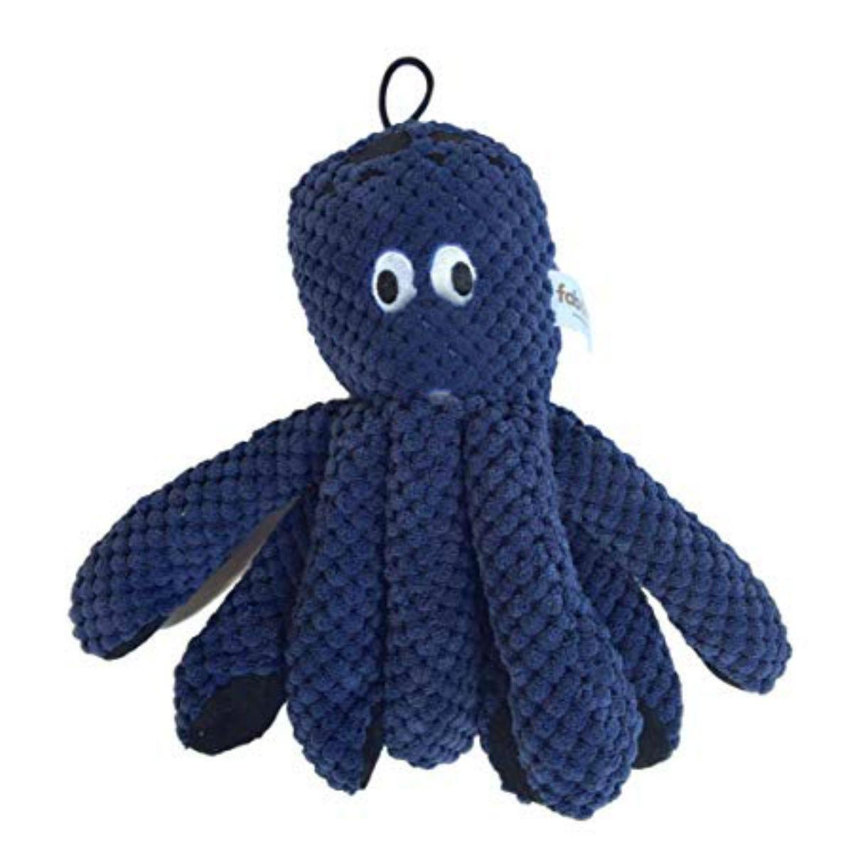 fabdog® Floppy Friends Dog Toy - Navy Octopus