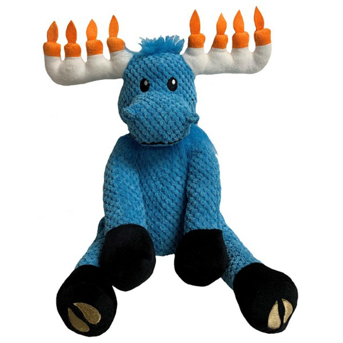 fabdog® Holiday Floppy Friends Dog Toy - Hanukkah Moose