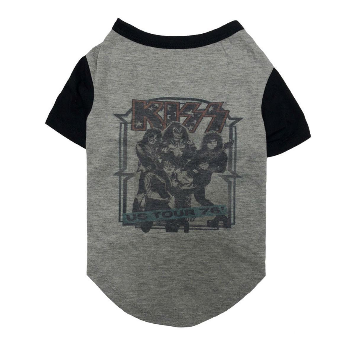 fabdog® KISS '76 Tour Dog T-Shirt - Gray