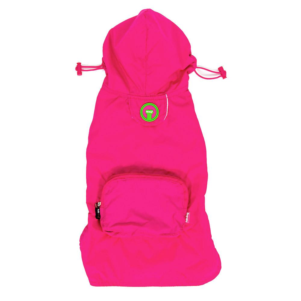fabdog® Pocket Fold Up Dog Raincoat - Hot Pink