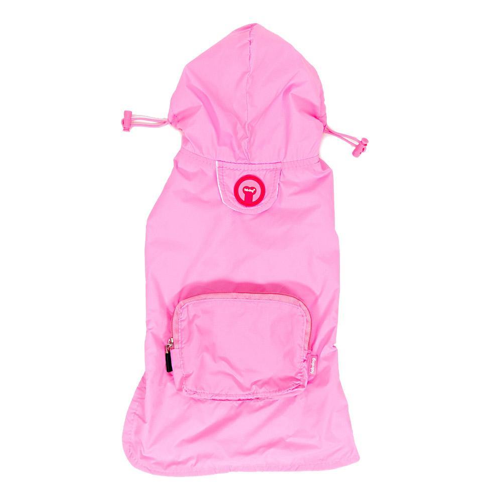 fabdog® Pocket Fold Up Dog Raincoat - Light Pink