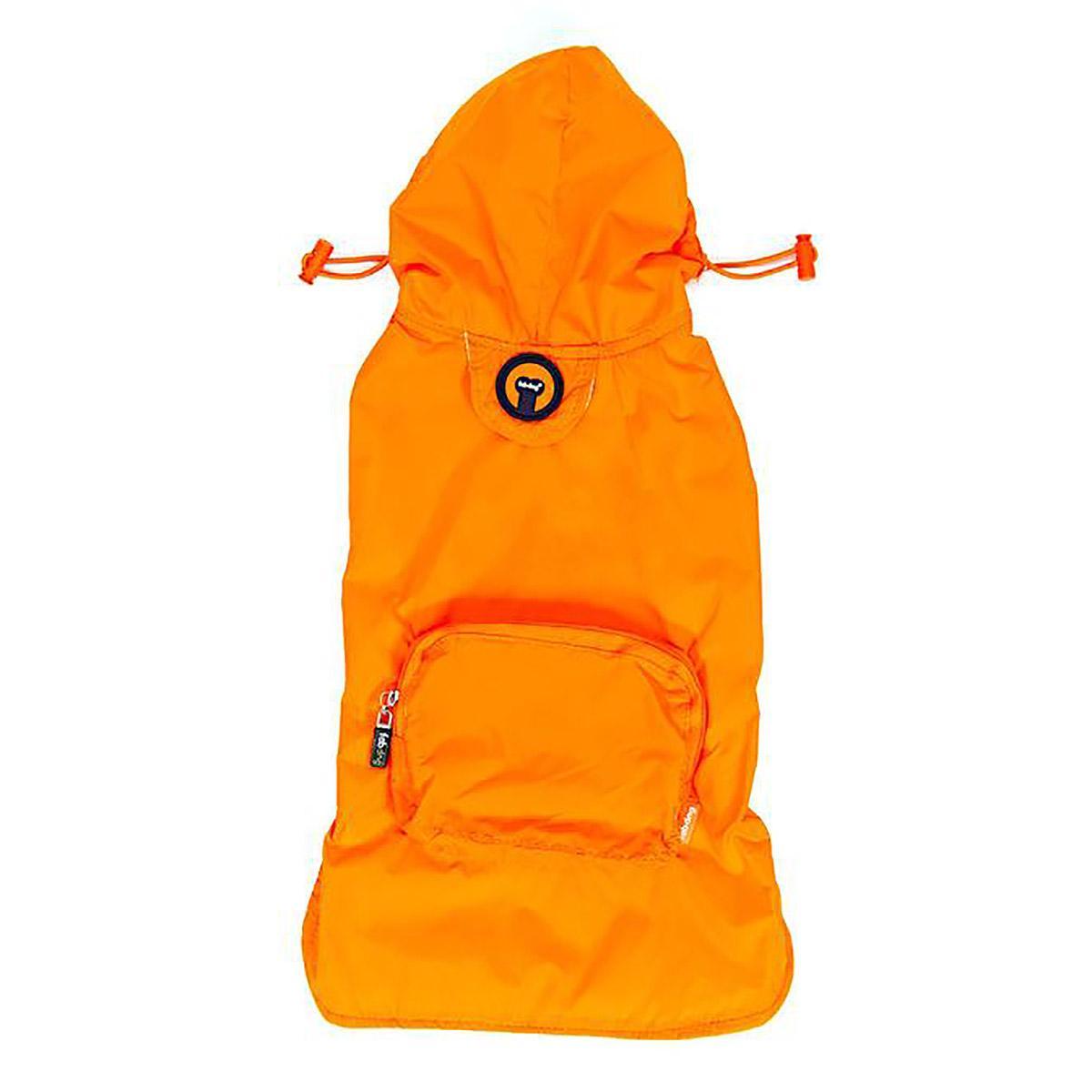 fabdog® Pocket Fold Up Dog Raincoat - Orange