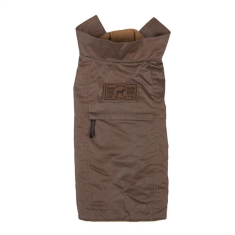 fabdog® Waxed Utility Dog Coat - Taupe