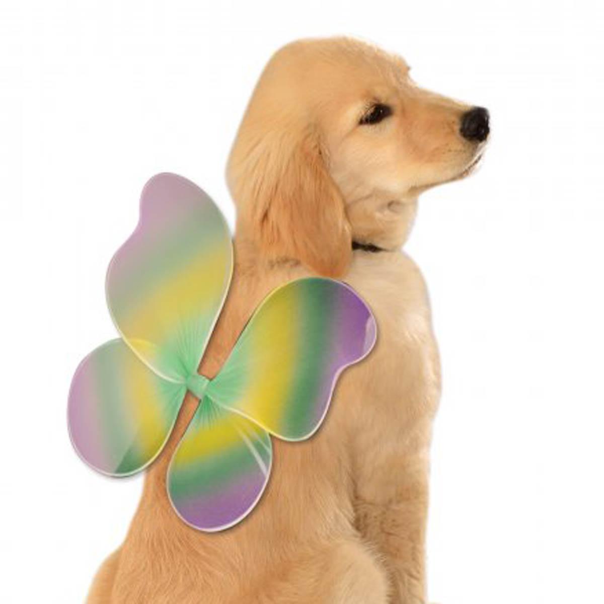 Fairy Wings Dog Costume - Mardi Gras