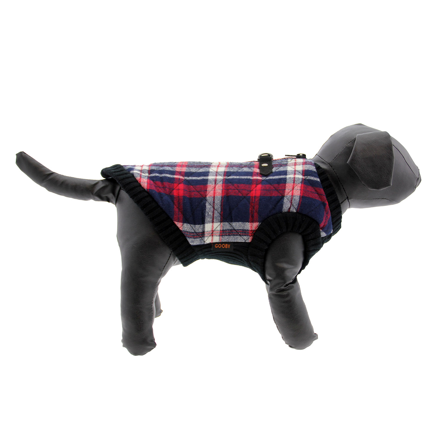 Fashion Bomber Check Dog Vest by Gooby - White