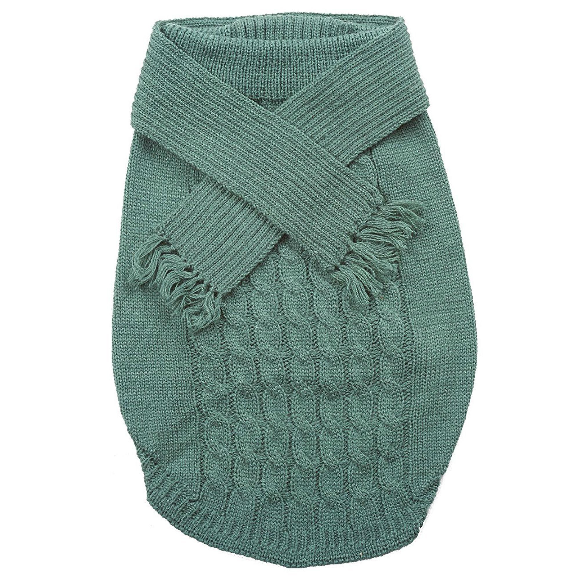 Fashion Pet Scarf Dog Sweater - Sage