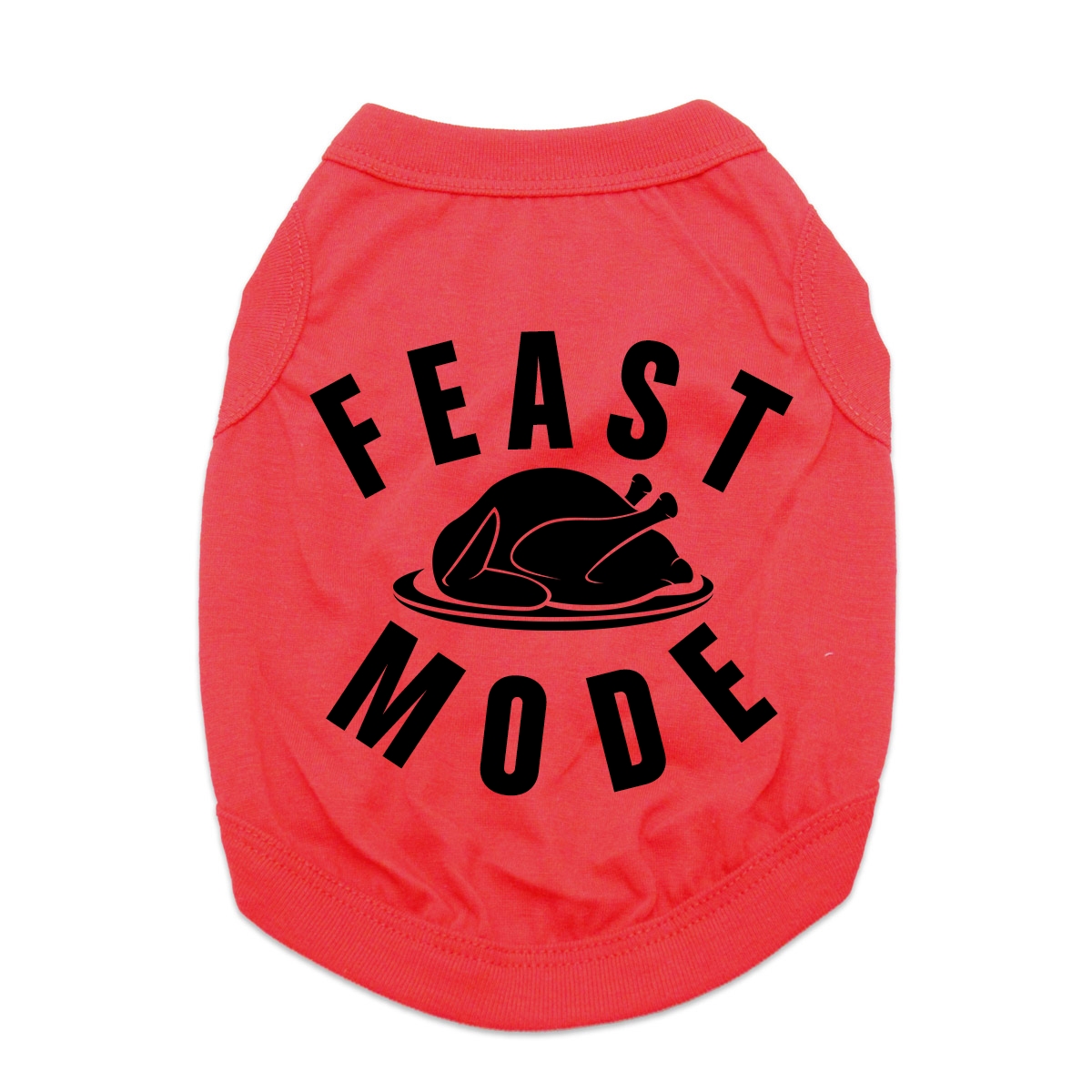 Feast Mode Dog Shirt - Red