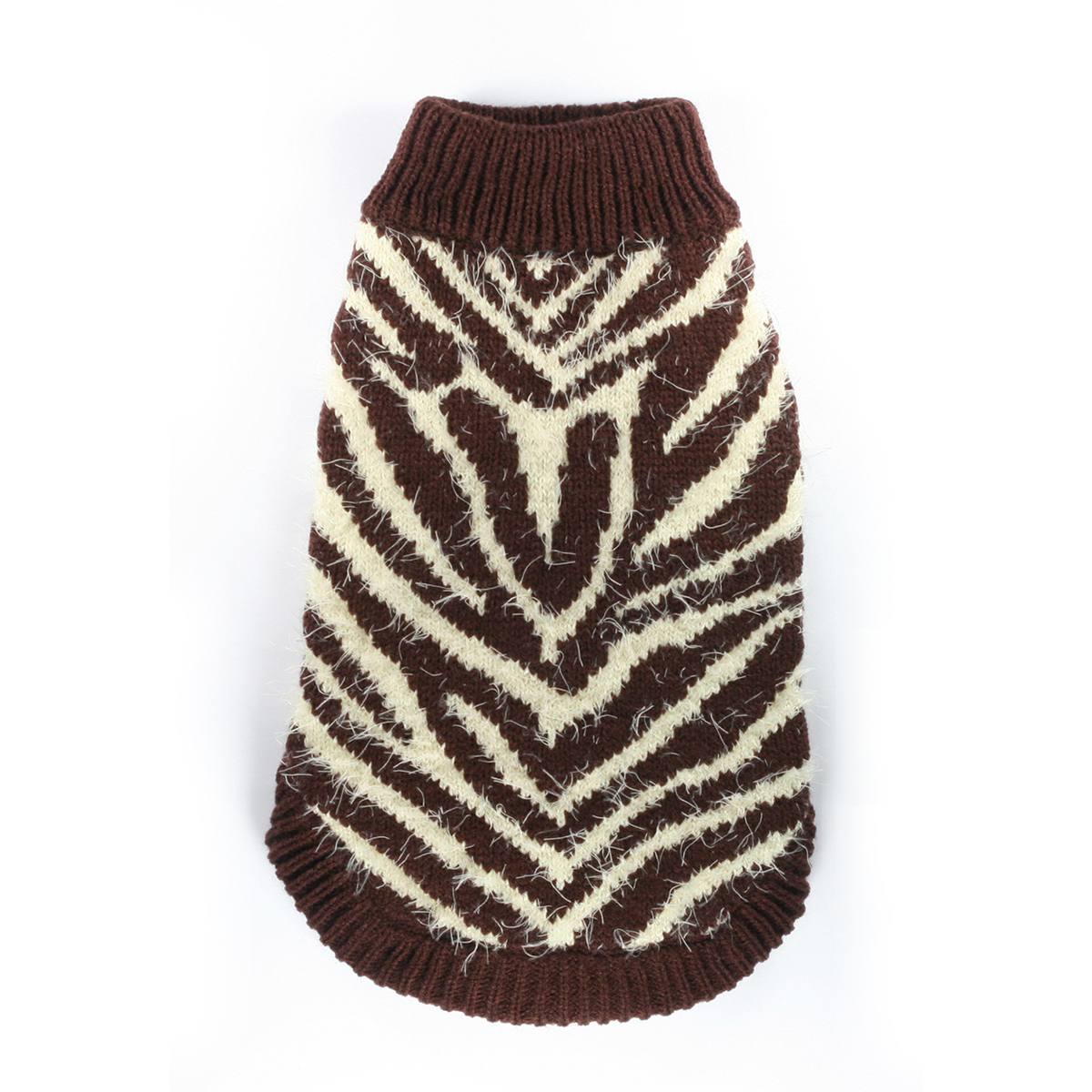 Feathersoft Zebra Dog Sweater by Hip Doggie