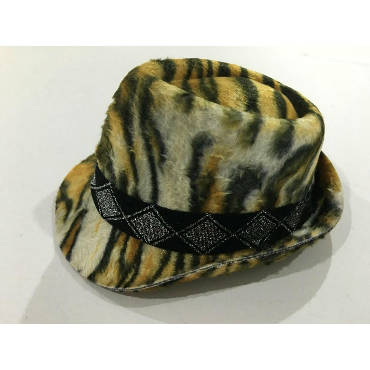 Felt Fedora Dog Hat - Tiger