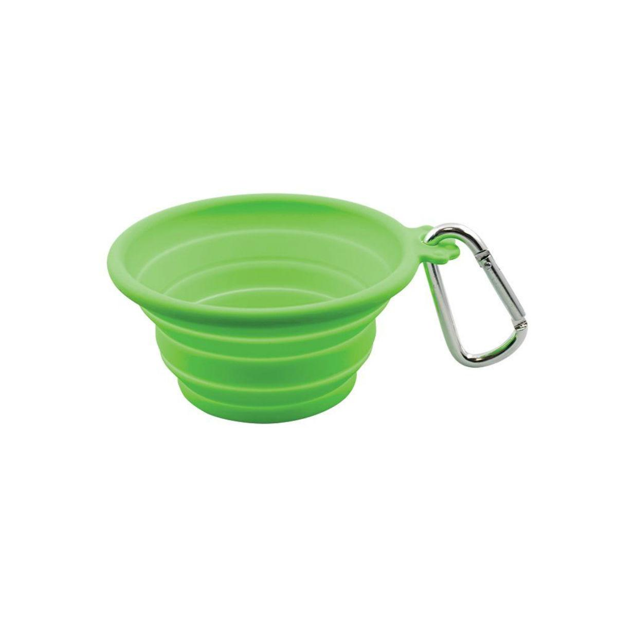 FFD Pet Silicone Collapsible Dog Travel Bowl - Lime