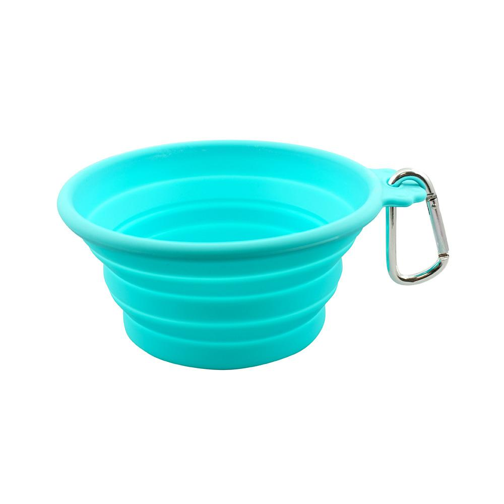 FFD Pet Silicone Collapsible Dog Travel Bowl - Teal