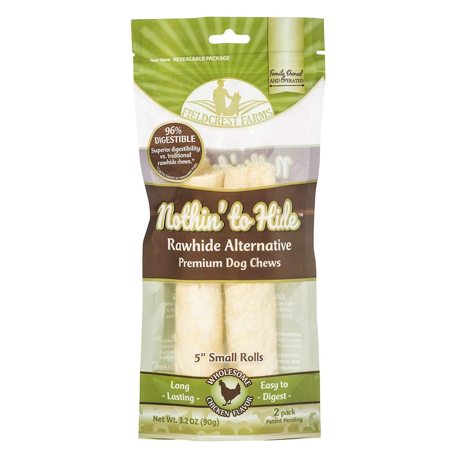 Fieldcrest Farms Nothin' to Hide Dog Treat - Chicken Roll