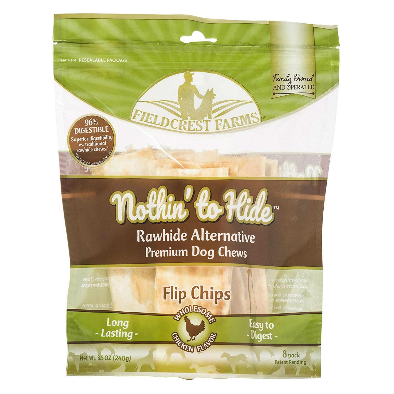 Fieldcrest Farms Nothin' to Hide Flip Chips Dog Treat - Chicken
