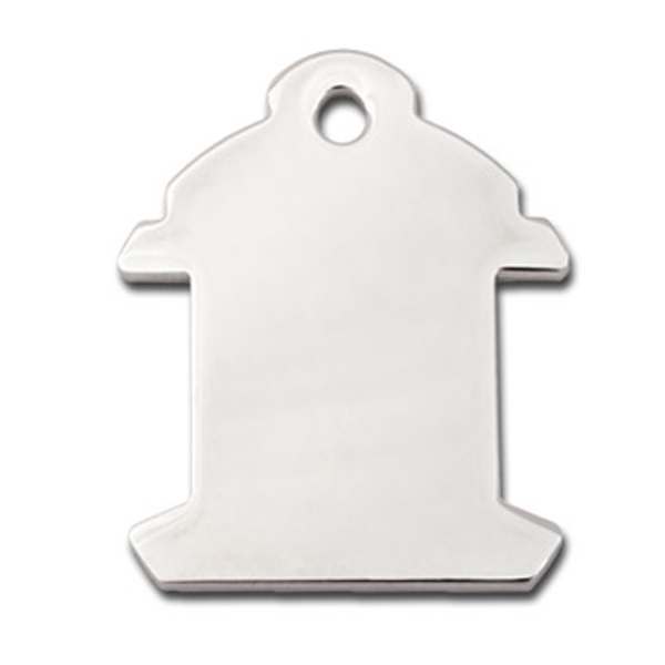 Fire Hydrant Engravable Pet I.D. Tag - Chrome