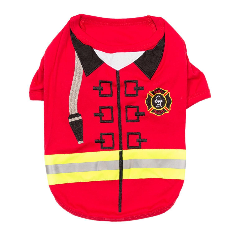 Firebarker Firefighter Dog Costume Shirt