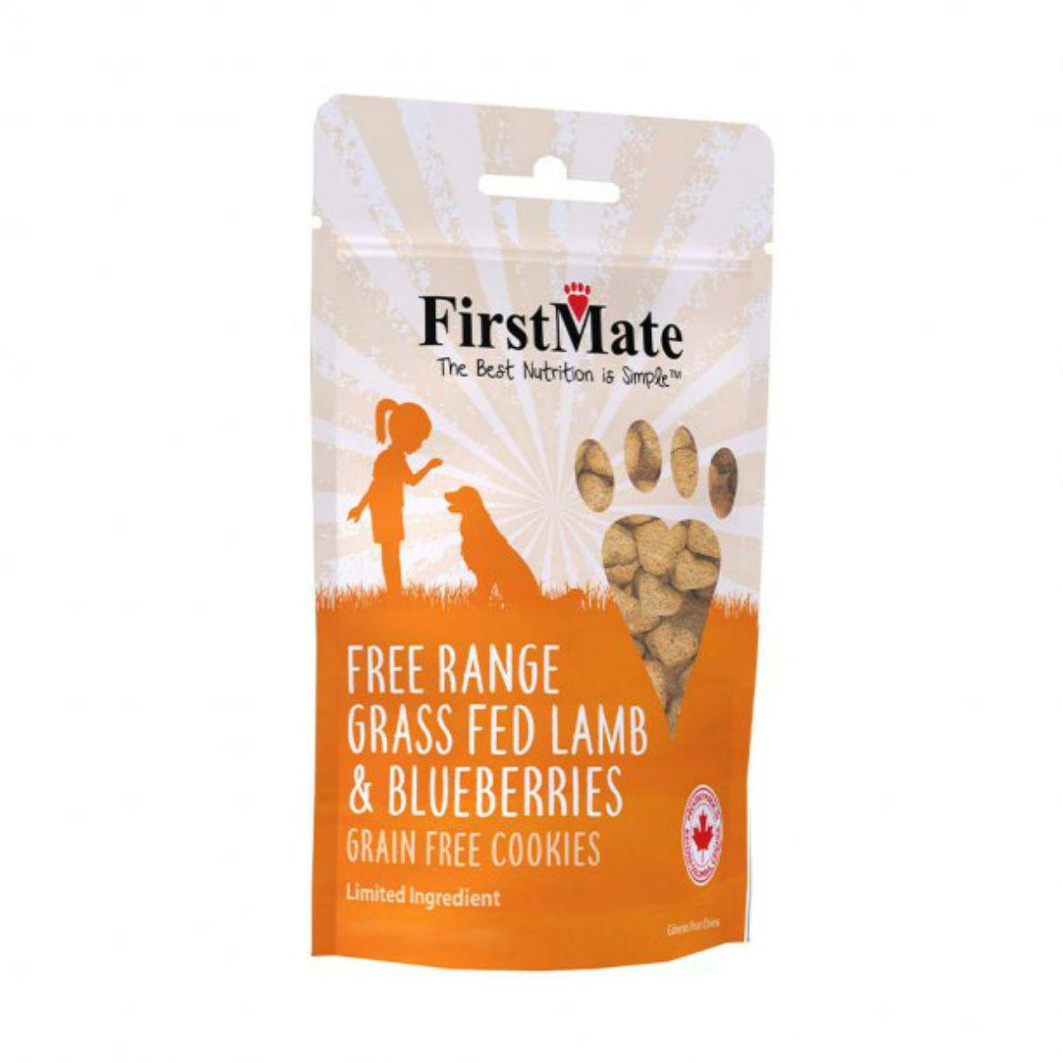 FirstMate Grain Free Cookie Dog Treats - Lamb & Blueberries