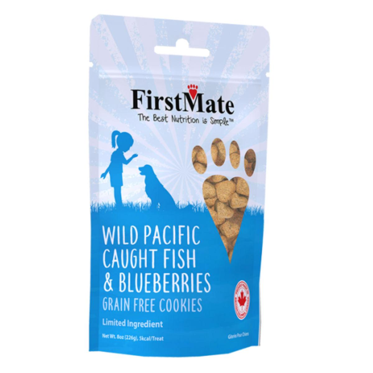 FirstMate Grain Free Cookie Dog Treats - Wild Pacific Caught Fish & Blueberries
