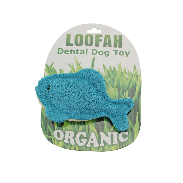 Fish loofah dental dog toy with same day shipping baxterboo for Fish dog toy