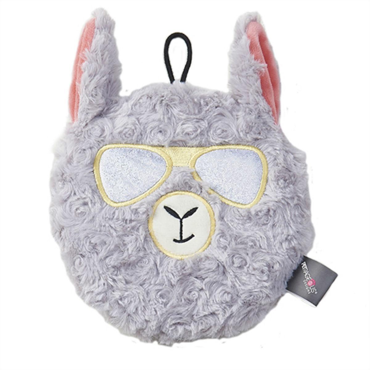 FabRageous Squeaker Disc Dog Toy - Llama