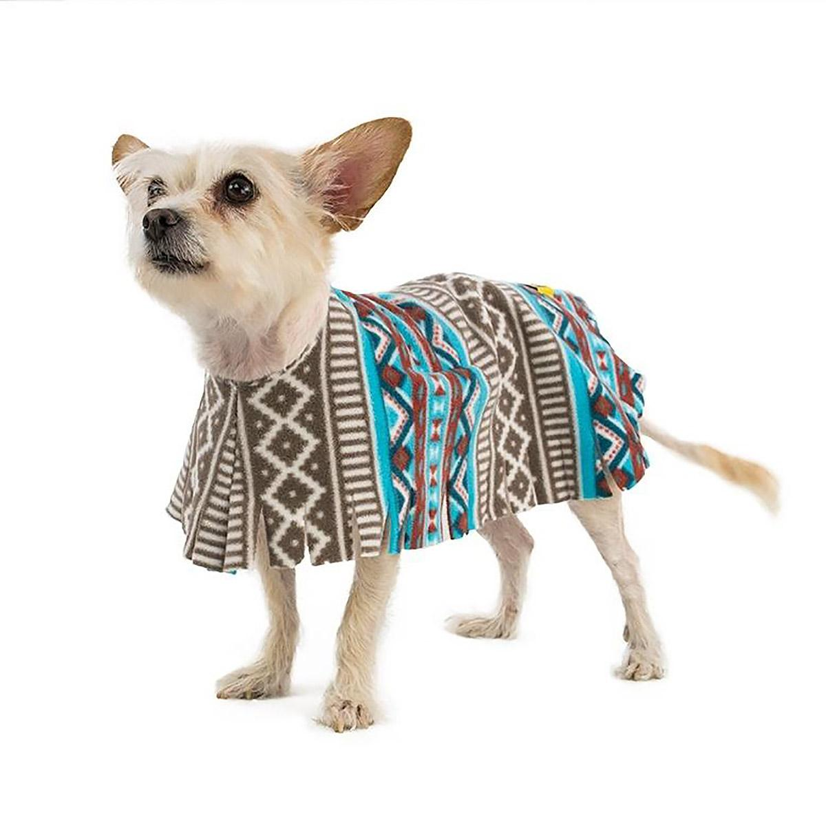 Fleece Dog Poncho by Poocho - Aztec Teal