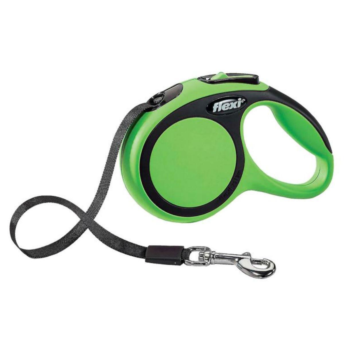 Flexi Comfort Tape Retractable Dog Leash - Green