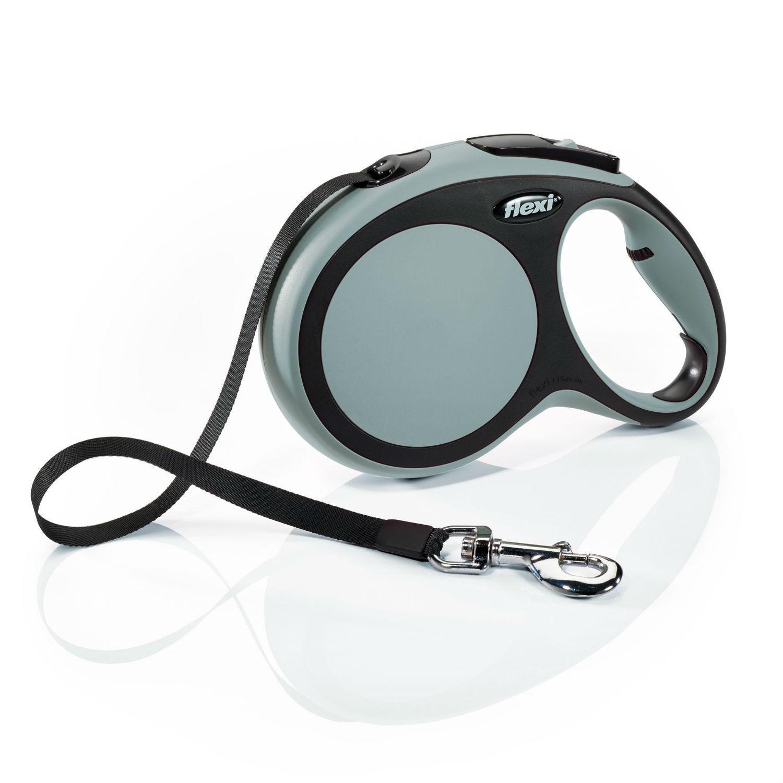 Flexi Comfort Tape Retractable Dog Leash - Gray