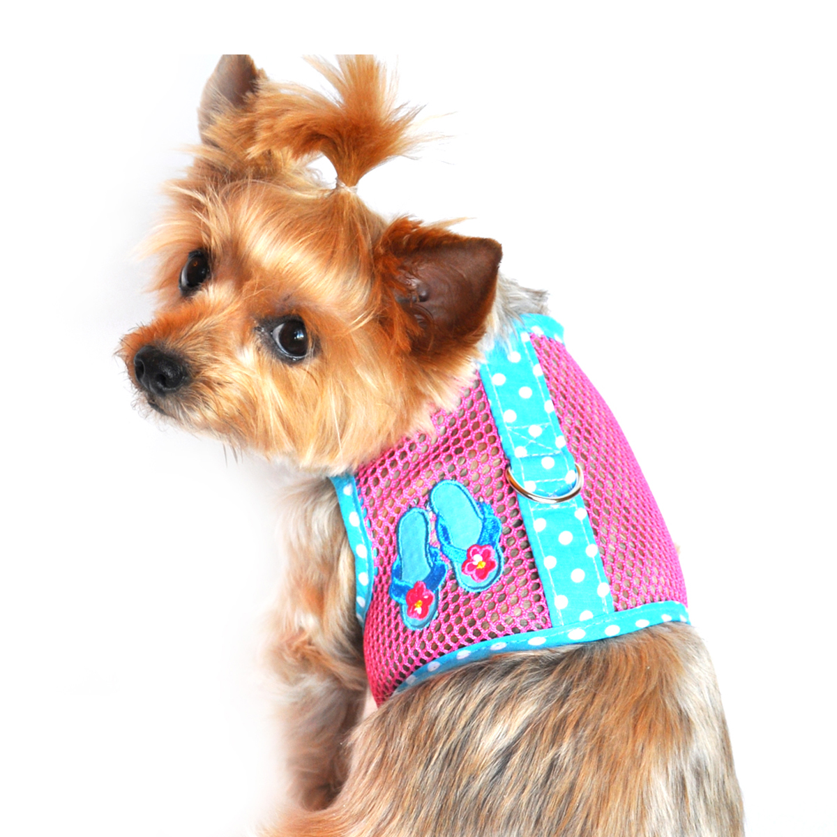Flip Flop Mesh Dog Harness by Doggie Design - Pink and Ocean Blue