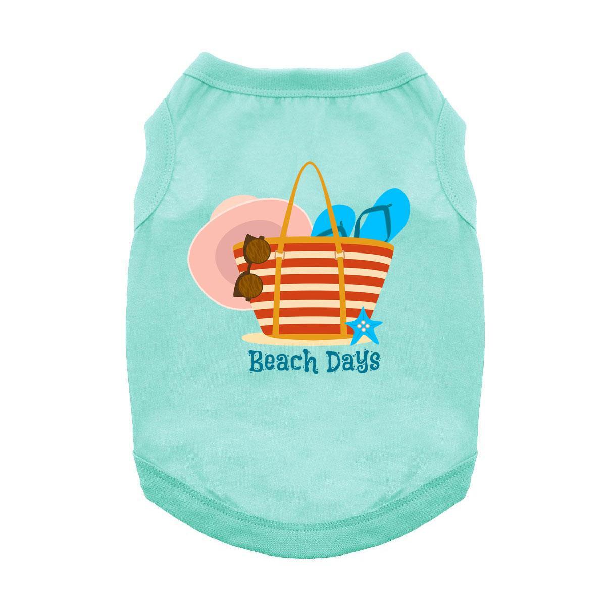 Beach Days Dog Shirt - Aqua