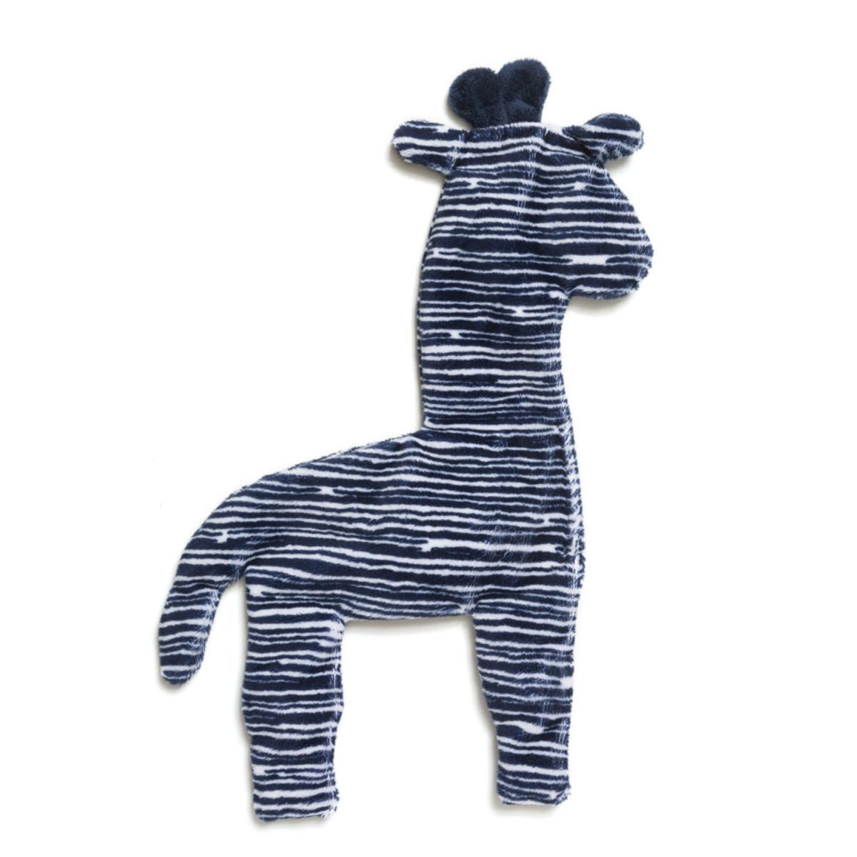Floppy Giraffe Stuffing-Free Dog Toy - Navy Stripe